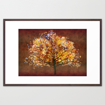 Bewitched Framed Art Print by Valerie Anne Kelly | Society6