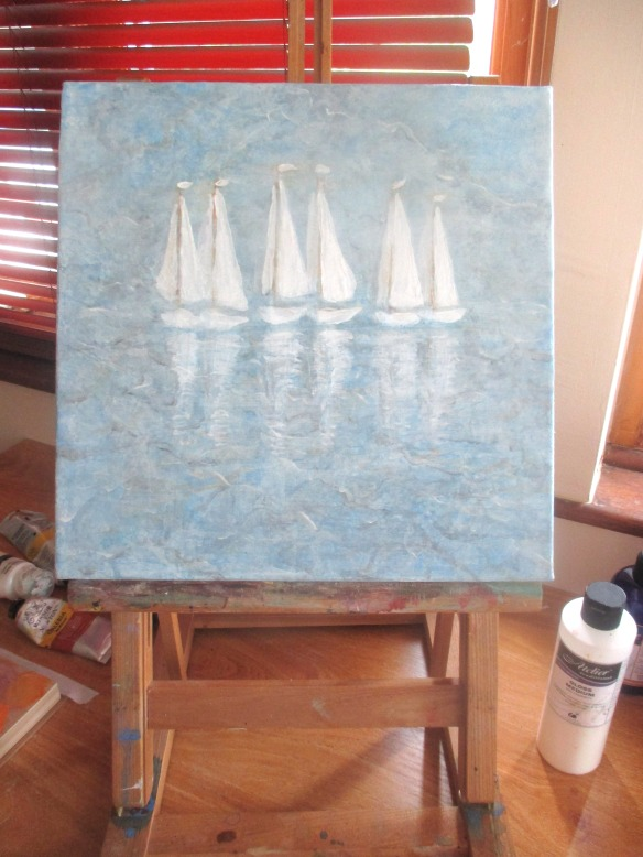 boats on easel