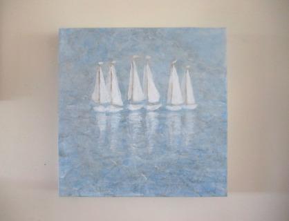 Boats on wall