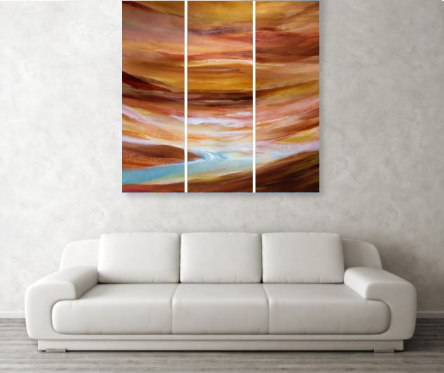 Abstract Paintings-Triptychs